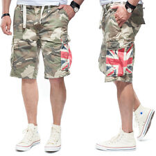 JET LAG Cortos Cargo so16-22 Ejército green Camuflaje GB Union Jack
