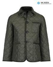 Lavenham x Gloverall Men's Quilted Car Coat - Olive