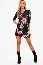 Boohoo Kay Floral 3/4 Sleeve Shift Dress pour Femme
