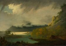 Derwent Water With Skiddaw In Distance Joseph Wright Derby between 1795-1796-A