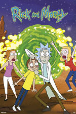 Rick and Morty - Portal - Watch - Poster Druck - Größe 61x91,5 cm