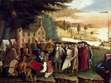 Penns Treaty With Indians Edward Hicks 1840 Art Photo/Poster Repro Print Many S