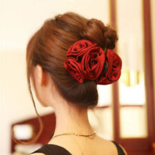 FASHION CLOTH ROSE FLOWER HAIRPIN HAIR CLAW CLIP WOMEN BARRETTE ACCESSORIES UK