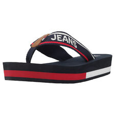 Tommy Hilfiger Tommy Jeans Mid Beach Womens Navy Red White Sandals
