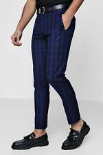 Boohoo Skinny Fit Check Suit Trousers per Uomo