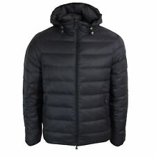ARMANI JEANS MENS BLACK AND BLUE DOWN PADDED REVERSIBLE JACKET