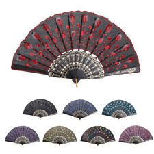 Spanish Style Dance Wedding Party Folding Hand Held Flower Embroidered Fan
