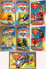 SUPERMAN ANIMATED DELUXE SUPERGIRL BRAINIAC LUTHOR LOT ULTRA HEAT VISION