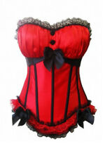 SEXY CORSET CORSAGE BANDEAU TAILLE L=36-38 rouge NEUF bustier