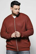 Boohoo Big And Tall Textured Knitted Bomber para Hombre