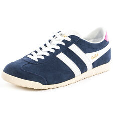 Gola Bullet Womens Navy White Suede Trainers