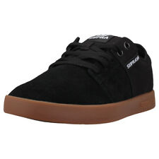 Supra Stacks Ii Mens Black Gum Suede & Canvas Trainers