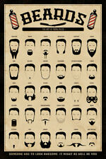 Beards - The Art of Manliness - Fun Spaß Bärte Poster - Größe 61x91,5 cm