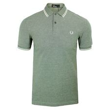 fred perry Polo Hombre Hiedra Oxford Doble Franja TOP