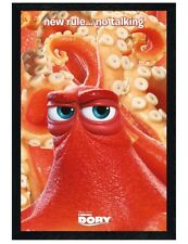 Finding Dory in schwarzes Holz eingerahmtes No Talking Maxi Poster 61 x 91,5 cm