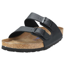 Birkenstock Arizona Soft Footbed Regular Mens Black Synthetic Sandals