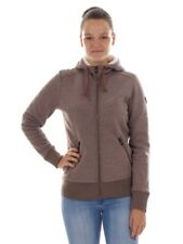 CMP giacca di pile hoodie-jacket Giacca casual marrone isolante cappuccio