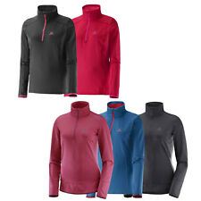 Salomon Discovery U Hz 1/2 W donna -fleecezip Giacca in pile Mid-Layer NUOVO