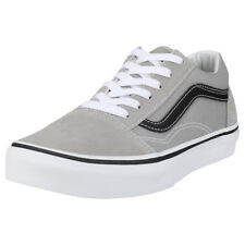 Vans Old Skool Drizzle Kids Grey Black Suede & Canvas Trainers