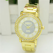 Men's Women's Bracelet Stainless Steel Crystal Dial Analog Quartz Wrist Watch