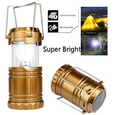 Solar 6X LED USB Camping Lamp Rechargeable Portable Tent Light Torch Lantern