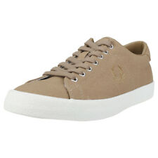 Fred Perry Underspin Mens Brown Canvas Trainers