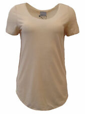 Vero Moda Damen T SHIRT Basic Top VMLUA SS TOP NOOS 10149900 Ivory Cream