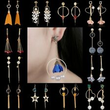 Hot Crystal Pearl Tassel Dangle Drop Ear Stud Earrings Womens Wedding Jewellery
