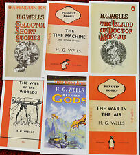 H.G.WELLS Book Cover Postcards new