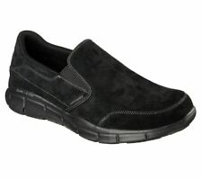 Skechers Equalizer Mind Game Suade Running/Walking Trainers - Black