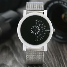 Wrist Watch Casual Simple Men Women Round Analog Quartz Stainless Steel Gift