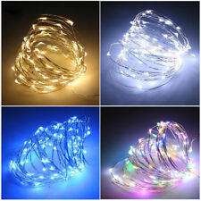 DIY 2M 10M Fairy Lights Battery Operated Led Firefly Micro String Copper Wire UK
