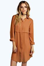 Boohoo Samia Double Placket Woven Shirt Dress para Mujer