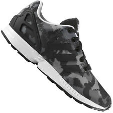 ADIDAS ORIGINALS ZX FLUX BOYS Women's Sneakers Camouflage Black Gray Shoes