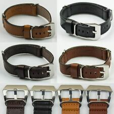 Genuine Calf Leather NATO G10 Military Watch Strap Band MoD Design black brown