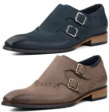 New Goodwin Smith Dyson Nubuck Mens Monk Strap Shoes ALL SIZES AND COLOURS