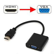 1080P HDMI Male to VGA Female Video Cable Converter with 3.5 mm Audio Adapter BK