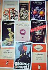 Classic Science Fiction Book Cover Postcards new