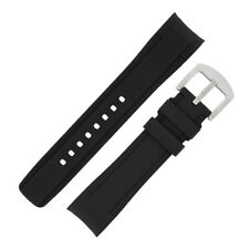 BLACK ZEALANDE Curved-End Rubber DIVE  Watch Strap FOR ROLEX AND OMEGA SEAMASTER
