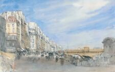 Pont Neuf From Quai De Lecole Paris David Cox 1829 Art Photo/Poster Reprint 6x4-