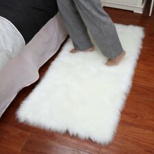 Soft Rectangle Faux Sheepskin Rug Sofa Carpet Living Room Bedroom Floor Mat OO