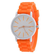 Women Men Fashion Silicone Rubber Quartz Analog Sports Casual Wrist Watch BKY