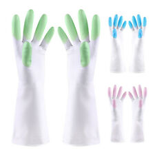 Durable PVC Gloves Home Kitchen Long Sleeve Dish Washing Cleaning Protect Hand