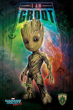 Guardians of the Galaxy 2 - I Am Groot - Space Film Poster Plakat - 61x91,5 cm