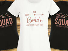 Hen Night T Shirt The Bride Squad Bridal Party Rose Gold Personalised Hen Do Top