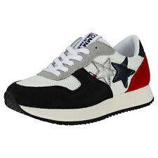 Tommy Hilfiger Tommy Jeans Star Sneaker Womens White Navy Red Trainers