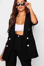 Boohoo Womens Bea Double Breasted Blazer with Contrast Button