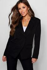 Boohoo Womens Petite Double Breasted Woven Co-Ord Blazer