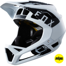 Fox 2018 Proframe Enduro / Downhill MTB Full Face Helmet Mink White *RRP £225*