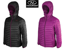 Highlander Ladies Womens Hooded Barra Thermal Quilted Outdoor Puffer Jacket New